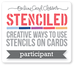 online card classes, stenciled
