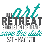 loft art retreat, save the date