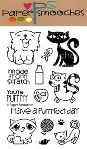 Nine Lives Clear Stamp Set, Paper Smooches