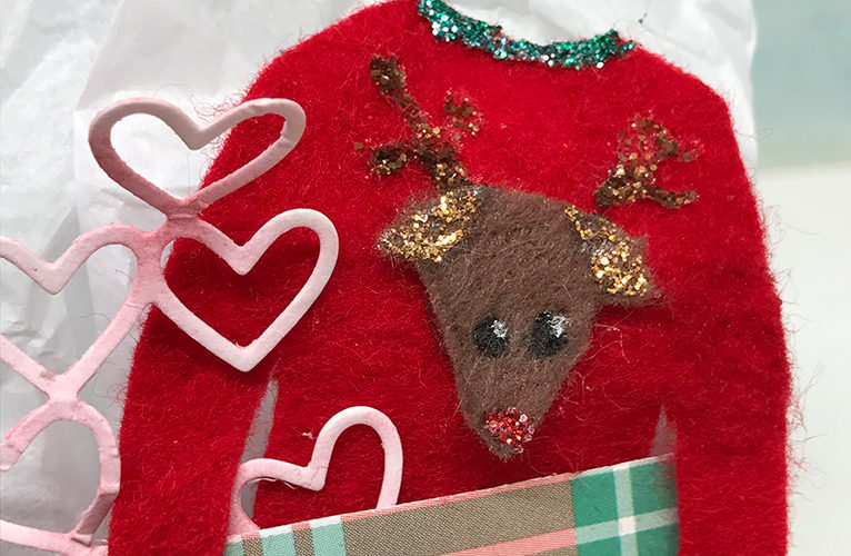 Ugly Sweater Gift Bag, featuring Cate Dixson