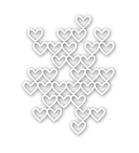 Stacked Hearts, Simon Says Stamp