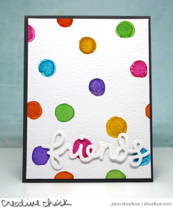 Let's Polka, Watercolored polka dots featuring Lawn Fawn | shurkus.com