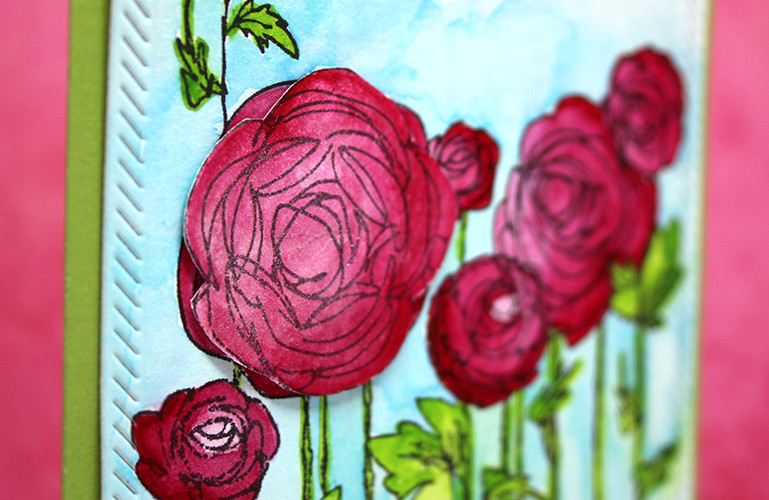 Simon Says Stamp Wednesday Challenge: Ranunculus Field featuring Stampendous | shurkus.com