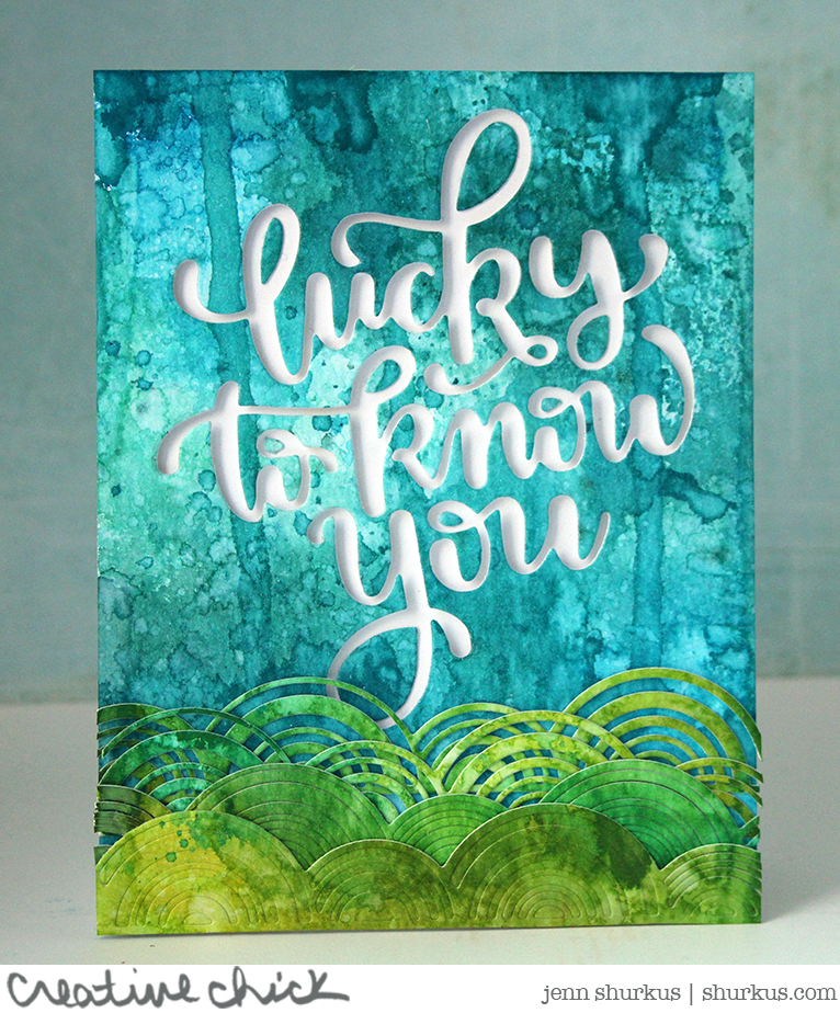 Lucky To Know You with Distress Spray Stains and Simon Says Stamp Exclusive Products | shurkus.com
