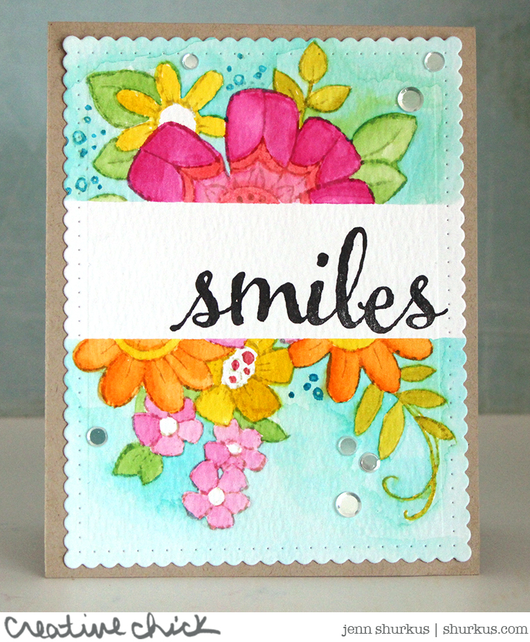 Masked Floral Greetings, Stampendous for Simon Says Stamp Wednesday Challenge | shurkus.com
