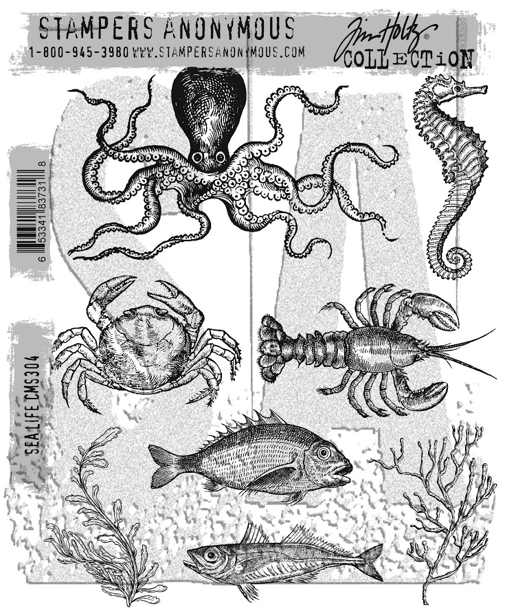 Tim Holtz/Stampers Anonymous, Sea Life, Tim Holtz