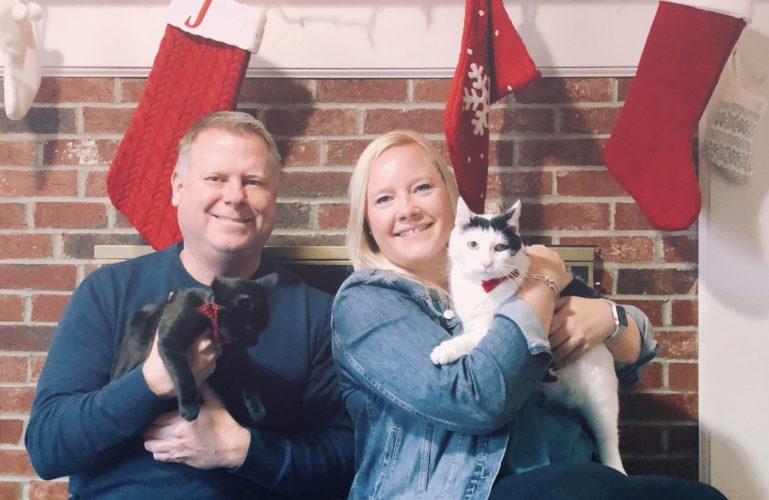 Merry Christmas from Jenn, Chris, Gus & Mister Harley | shurkus.com
