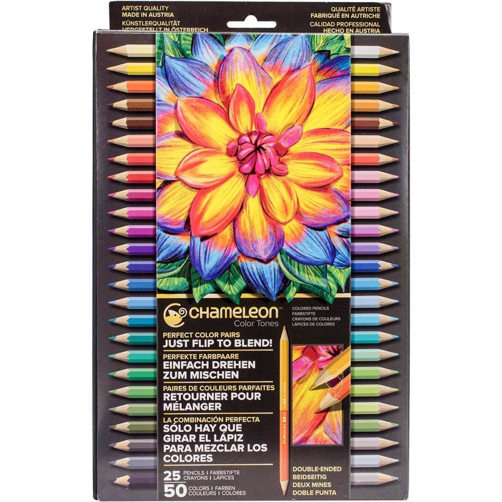 Chameleon SET OF 25 Color Tones Double-Ended Colored Pencils