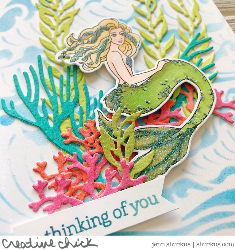 Mermaid Hello, Hero Arts 2018 Catalog Blog Hop | shurkus.com