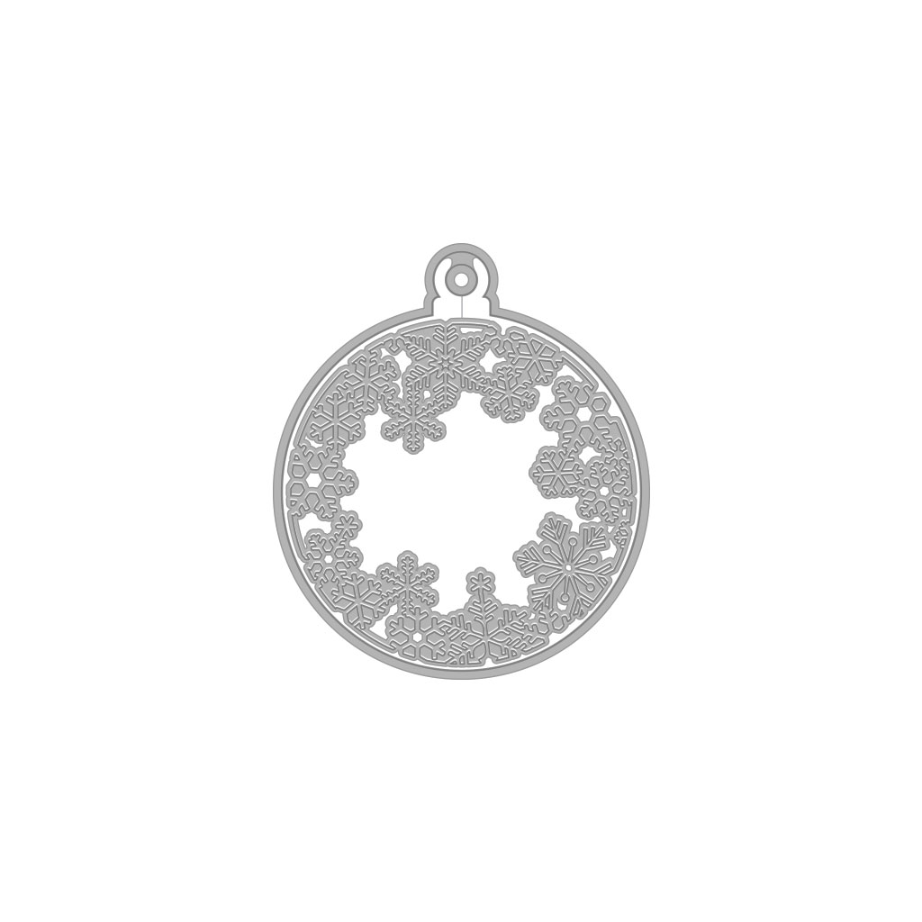 Hero Arts, Snowflake & Ornaments Fancy Die