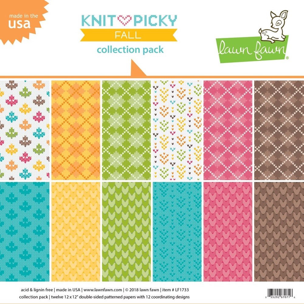 Lawn Fawn, Knit Picky Fall