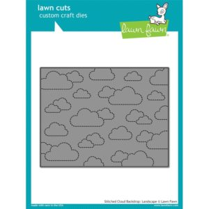 Lawn Fawn, Stitched Cloud Backdrop Landscape