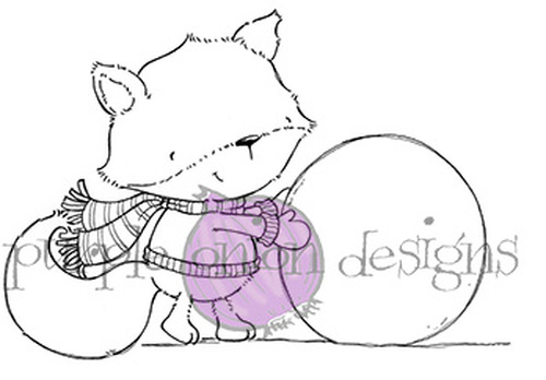 Purple Onion Designs, Stacey Yacula Studio - Rupert (Fox with snowballs)
