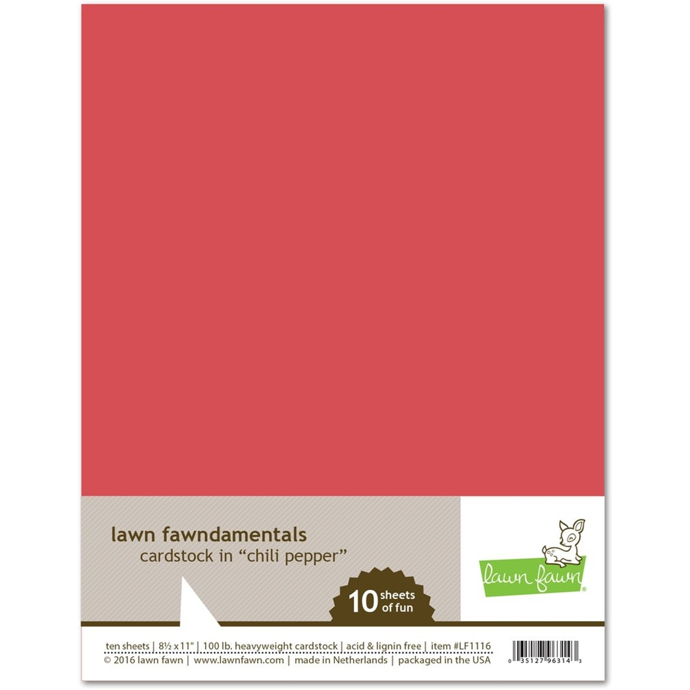 Lawn Fawn, Chili Pepper Cardstock