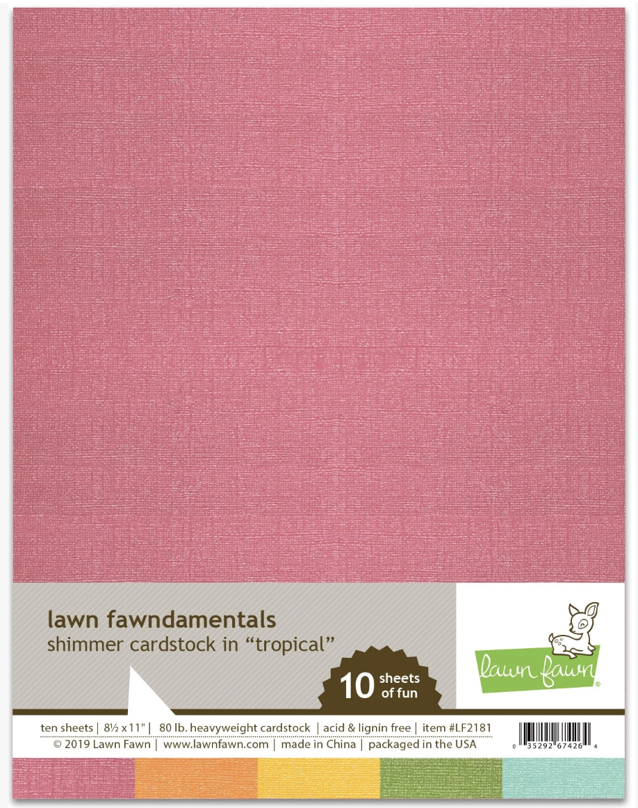 Lawn Fawn, Shimmer Cardstock Tropical