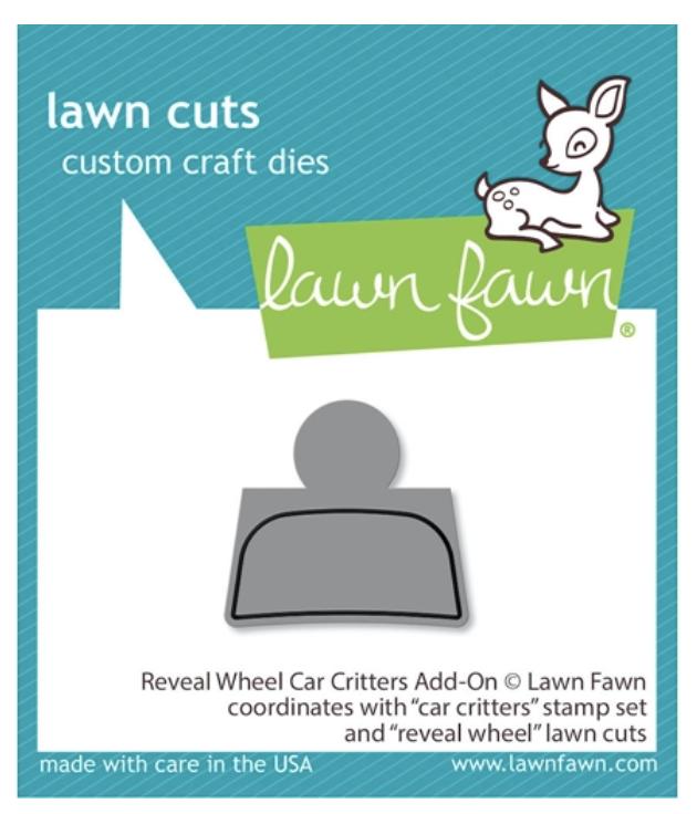 Lawn Fawn, Reveal Wheel Car Critters Add-On