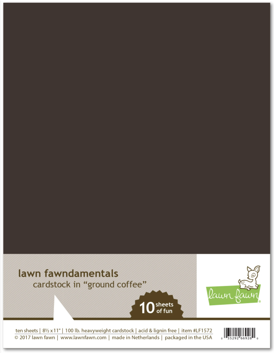 Lawn Fawn, Ground Coffee Cardstock
