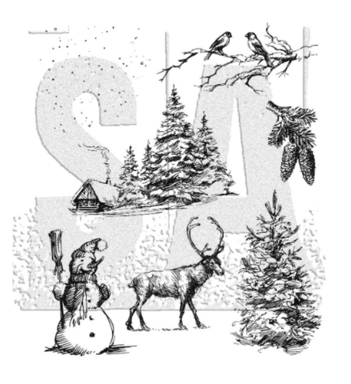 Tim Holtz/Stampers Anonymous: Winterscape
