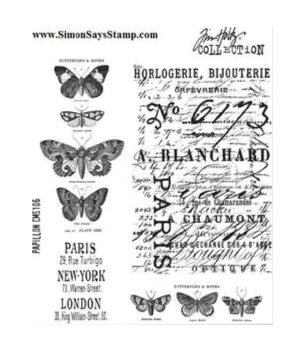Tim Holtz/Stampers Anonymous, Papillon