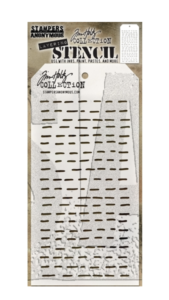 Tim Holtz/Stampers Anonymous: Layering Stencil Dashes, THS101