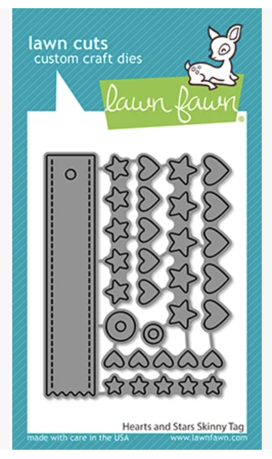 Lawn Fawn, Hearts and Stars Skinny Tag