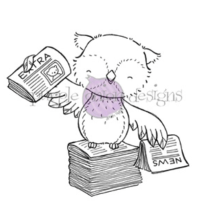 Purple Onion Designs/Stacey Yacula, Alex (Owl with newspapers)