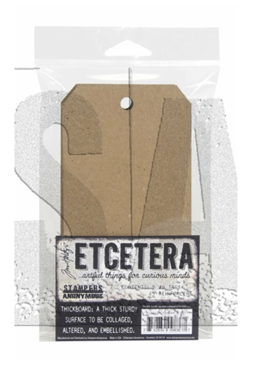 Tim Holtz/Stampers Anonymous, Etcetera #8 Chipboard Tag
