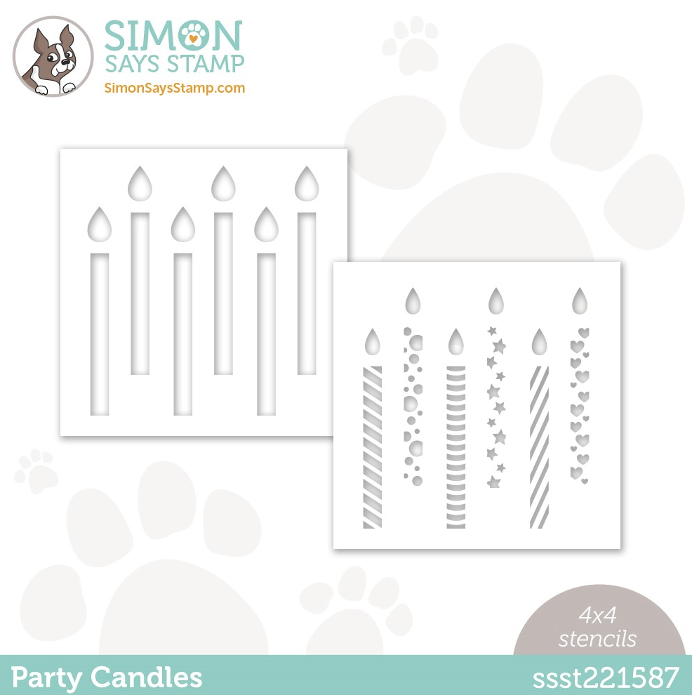 Simon Says Stamp, Party Candles 4x4 stencil set